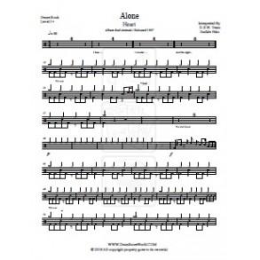 Heart - Alone - Drum Score - Drum Sheet