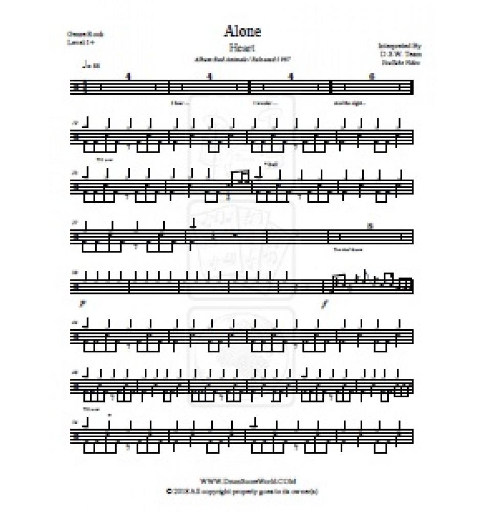 Alone Heart sheet music